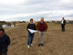 Andrea Scapuzzi e il vice presidente federale Antonio Bozzi in visita ai lavori di costruzione del percorso